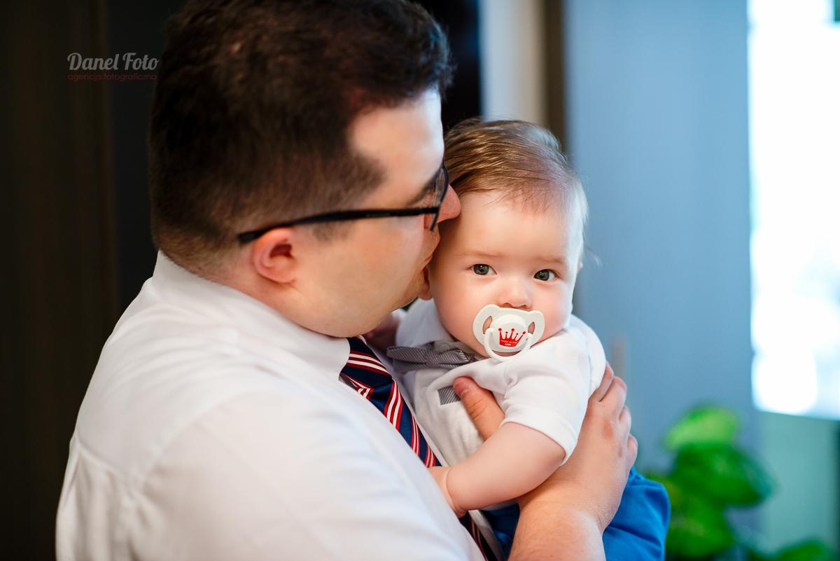 fotografie z chrztu Aleksa w Lublinie